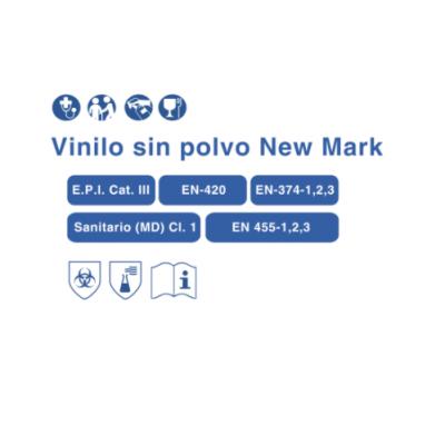 Guante Vinilo sin polvo New Mark T/ Grande - 3