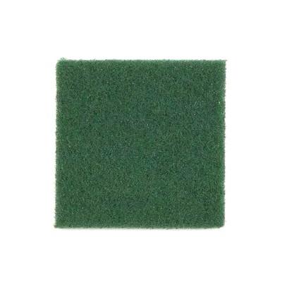 Estropajo Cortado Fibra Verde Fuerte . Paquete 12 und - 1