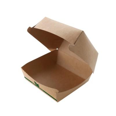 Envase hamburguesa XL Cartón Kraft . Bolsa 50 und - 1