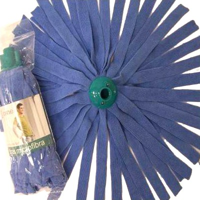 Fregona Microfibra Tiras Azul Cisne - 1