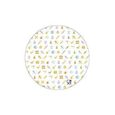 Tapa de cartón envase circular pollo