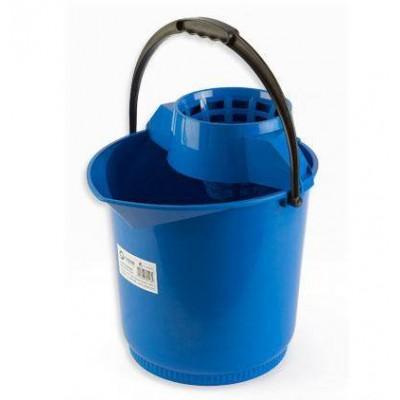 Cubo Redondo Especial Con Escurridor Azul 13L