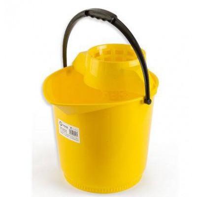 Cubo Redondo Especial Con Escurridor Amarillo 13L