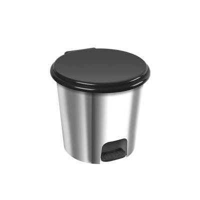 Cubo Papelera Plata 20 Litros Tapa Pedal - 1